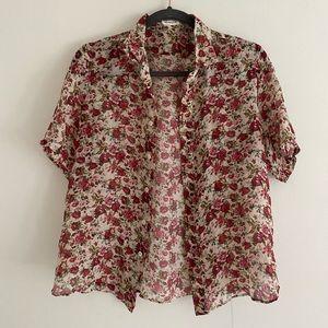 Saint Laurent Floral Blouse Shirt Size S